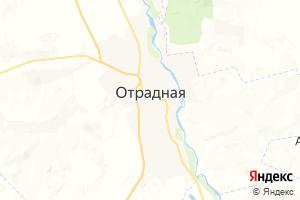 Карта ст. Отрадная Краснодарский край