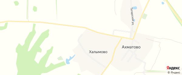 Карта деревни Халымово в Рязанской области с улицами и номерами домов