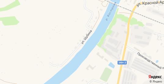 Улица Шубина в Буе с номерами домов на карте. Спутник и схема онлайн