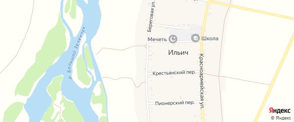 Береговая улица на карте аула Ильича Карачаево-Черкесии с номерами домов