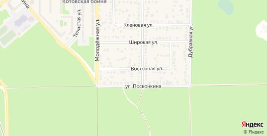 Восточная улица в Котовске с номерами домов на карте. Спутник и схема онлайн