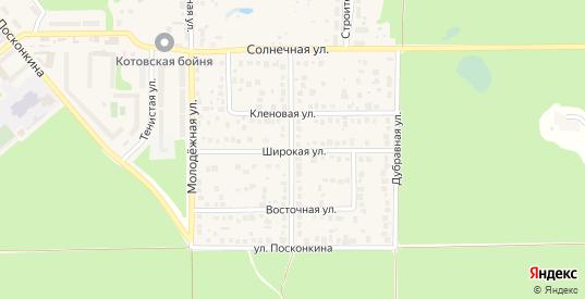 Широкая улица в Котовске с номерами домов на карте. Спутник и схема онлайн