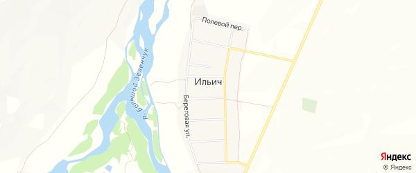 Карта аула Ильича в Карачаево-Черкесии с улицами и номерами домов