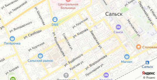 Донская улица в Сальске с номерами домов на карте. Спутник и схема онлайн
