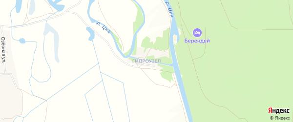 Карта поселка Гидроузла (Горельского с/с) в Тамбовской области с улицами и номерами домов
