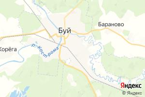 Карта г. Буй Костромская область
