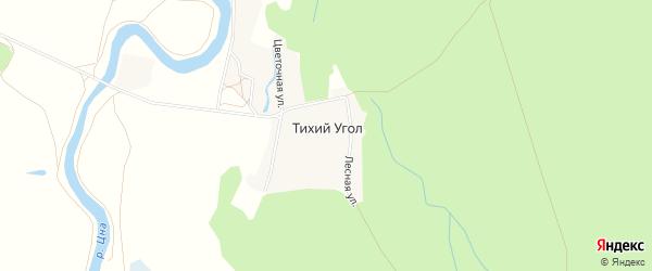 Карта поселка Тихого Угла в Тамбовской области с улицами и номерами домов