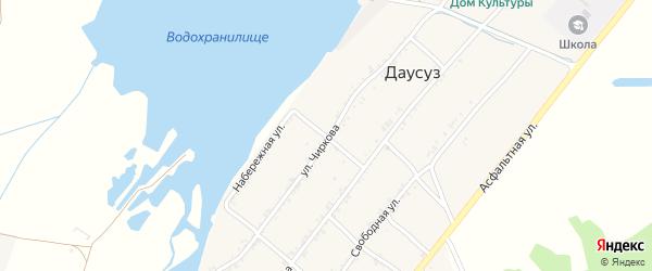 Набережная улица на карте села Даусуза Карачаево-Черкесии с номерами домов
