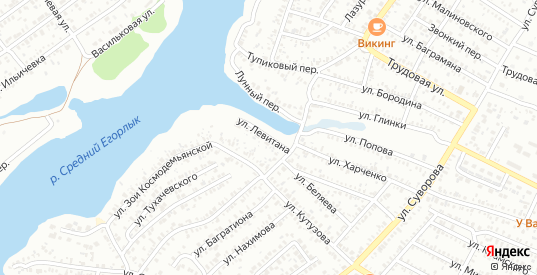 Улица Левитана в Сальске с номерами домов на карте. Спутник и схема онлайн