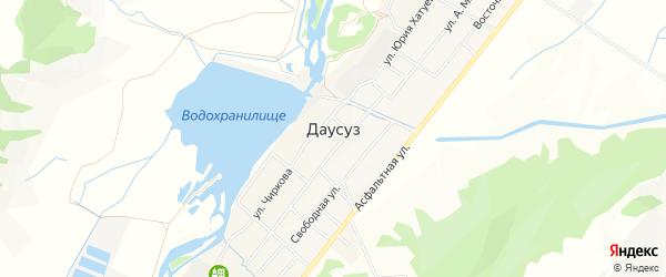 Карта села Даусуза в Карачаево-Черкесии с улицами и номерами домов
