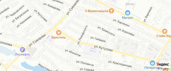 Улица Гайдара на карте Сальска с номерами домов