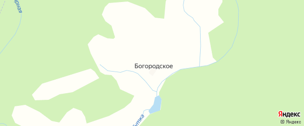 Карта деревни Богородского в Костромской области с улицами и номерами домов