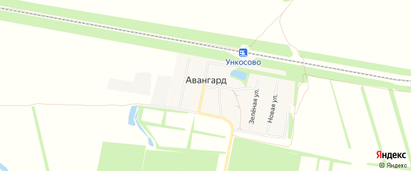 Карта поселка Авангарда в Рязанской области с улицами и номерами домов