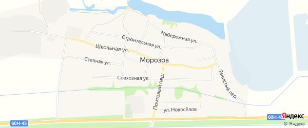 Карта хутора Морозова в Ростовской области с улицами и номерами домов