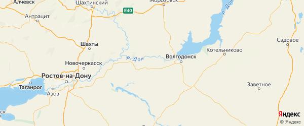 Карта Волгодонской района Ростовской области с городами и населенными пунктами
