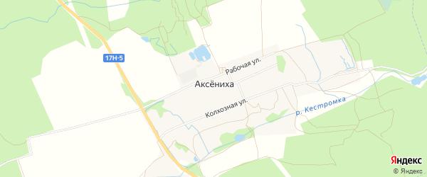 Карта деревни Аксенихи в Владимирской области с улицами и номерами домов