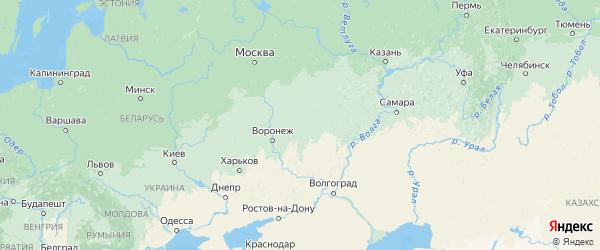 Карта Тамбовской области с городами и районами