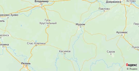 Карта Меленковского района Владимирской области с городами и населенными пунктами