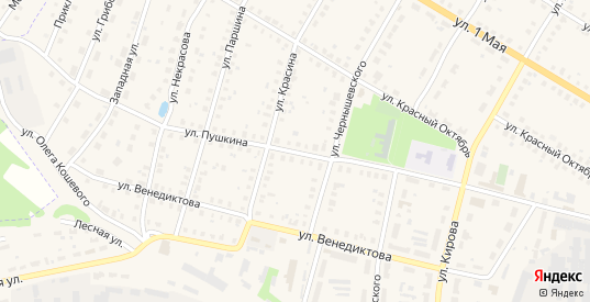 Улица Пушкина в Меленках с номерами домов на карте. Спутник и схема онлайн