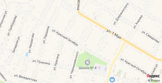 Улица Чернышевского в Меленках с номерами домов на карте. Спутник и схема онлайн