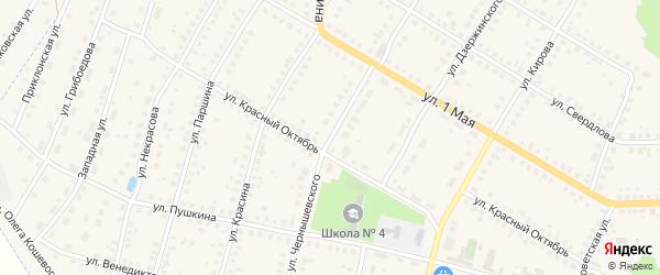 Улица Чернышевского на карте Меленок с номерами домов