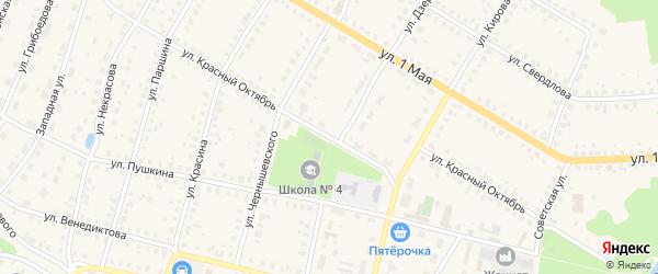 Улица Красный Октябрь на карте Меленок с номерами домов