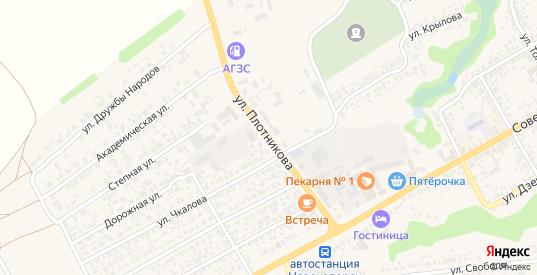 Улица Плотникова в Новохоперске с номерами домов на карте. Спутник и схема онлайн
