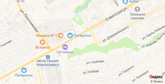 Приозерная улица в Новохоперске с номерами домов на карте. Спутник и схема онлайн