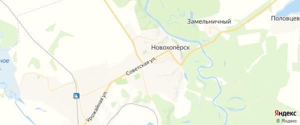Карта Новохоперска с районами, улицами и номерами домов: Новохоперск на карте России