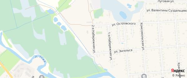 Набережная 2-я улица на карте Меленок с номерами домов