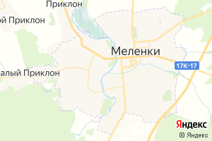 Карта г. Меленки Владимирская область