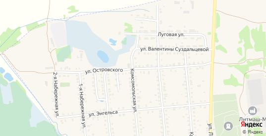 Улица Островского в Меленках с номерами домов на карте. Спутник и схема онлайн