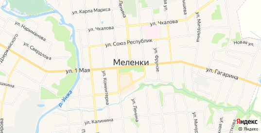 СТ Лесное-2 на карте Меленок с номерами домов