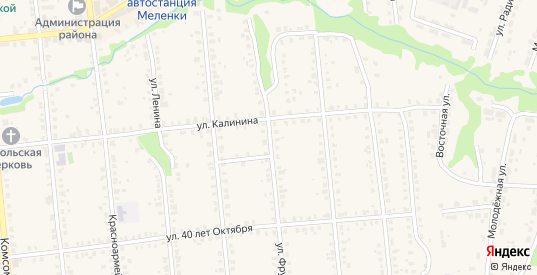 Улица Фрунзе в Меленках с номерами домов на карте. Спутник и схема онлайн