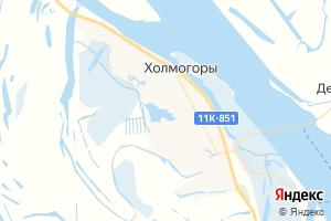 Карта с. Холмогоры Архангельская область