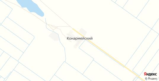Карта поселка Конармейский в Пролетарске с улицами, домами и почтовыми отделениями со спутника онлайн