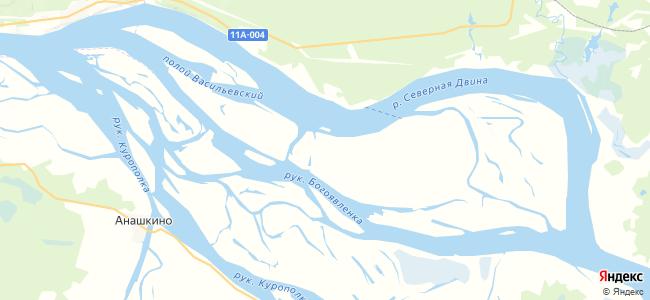Большой Наволок на карте