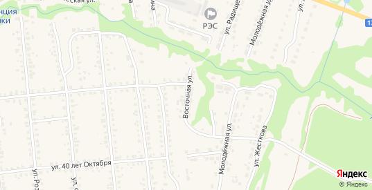Восточная улица в Меленках с номерами домов на карте. Спутник и схема онлайн