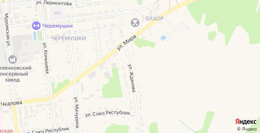Улица Жданова в Меленках с номерами домов на карте. Спутник и схема онлайн