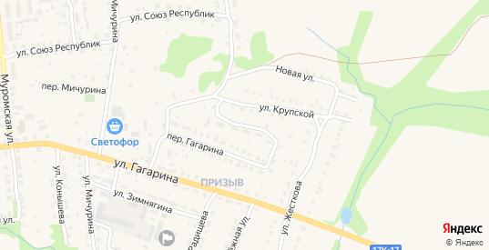 Гагарина 2-й переулок в Меленках с номерами домов на карте. Спутник и схема онлайн
