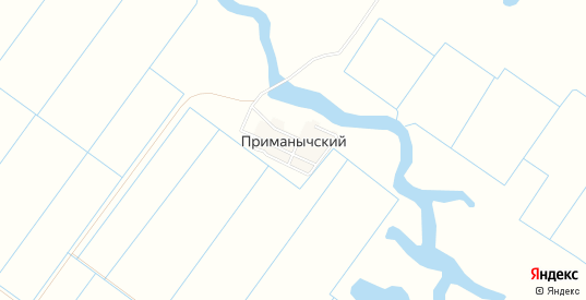 Карта поселка Приманычский в Пролетарске с улицами, домами и почтовыми отделениями со спутника онлайн