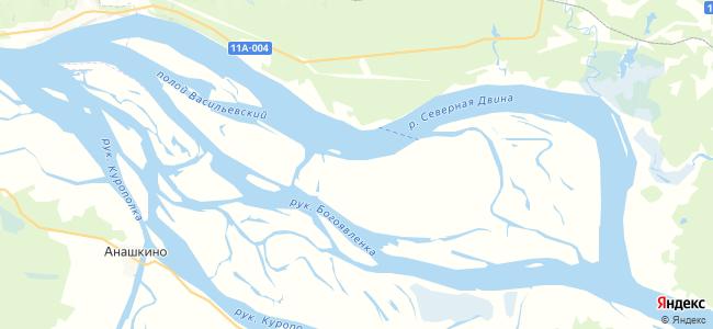Андриановская на карте