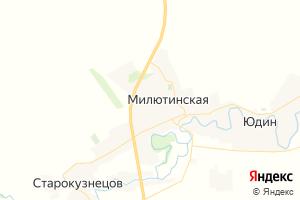 Карта ст. Милютинская Ростовская область