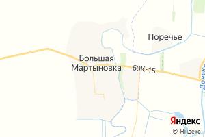 Карта сл. Большая Мартыновка Ростовская область