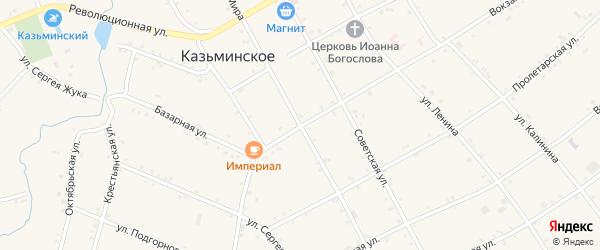 Кооперативная улица на карте Казьминского села Ставропольского края с номерами домов