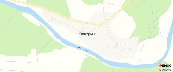 Карта деревни Кишерма в Архангельской области с улицами и номерами домов