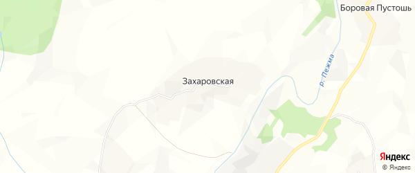 Карта Захаровской деревни Морозовского сельсовета в Вологодской области с улицами и номерами домов