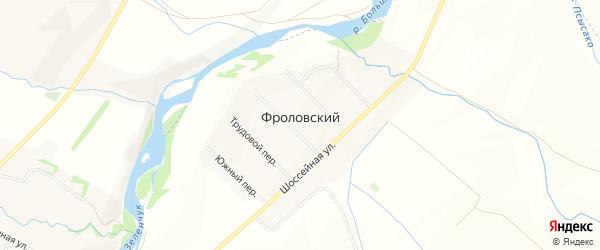 Карта Фроловского хутора в Карачаево-Черкесии с улицами и номерами домов