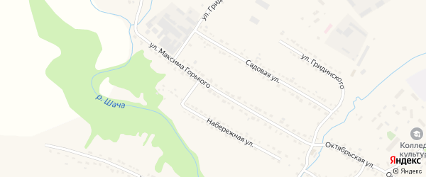 Улица Горького на карте Шацка с номерами домов