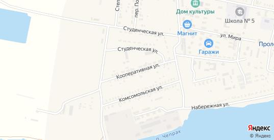 Кооперативная улица в Пролетарске с номерами домов на карте. Спутник и схема онлайн
